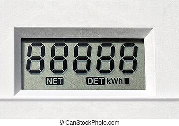 digital electric meter - Digital electric meter display...