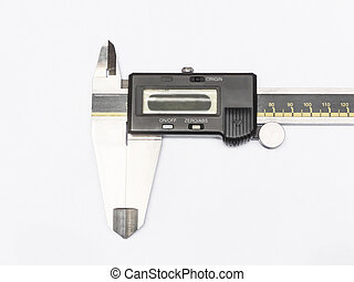digital electronic caliper isolated