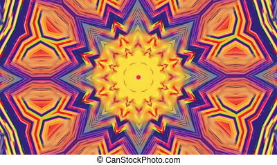 Digital elegant geometrical futuristic iridescent kaleidoscope background.
