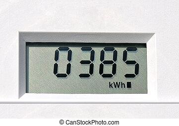 digital, elektrisch, meter
