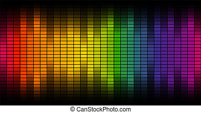 Digital equalizer background colorful - endlessly