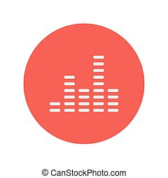 Digital equalizer thin line icon