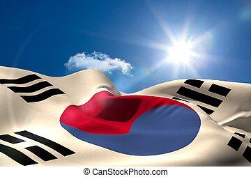digital erzeugt, kräuseln, japan markierungsfahne