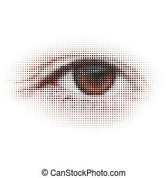 Digital - eye. Abstract illustration. EPS 8