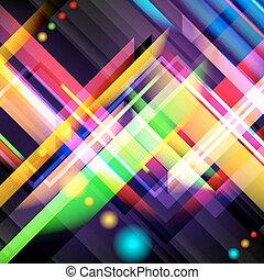 digital, farbenfreudiges licht, bild, erzeugt, stripes.