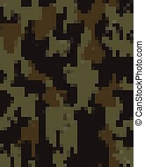 Digital fashionable camouflage pattern