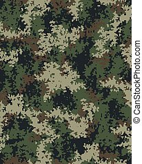 Digital fashionable camouflage pattern