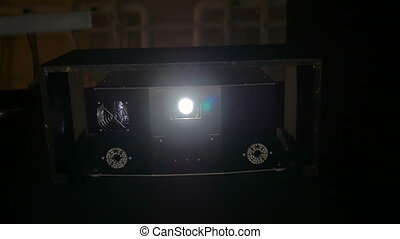 Digital film projector - Front view of digital film ...