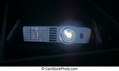 Digital film projector - Front view of digital film...