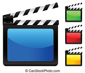 Digital film slate - Digital movie clapper board. Vector...