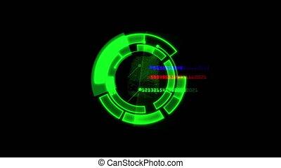 digital fingerprint abstract 4k
