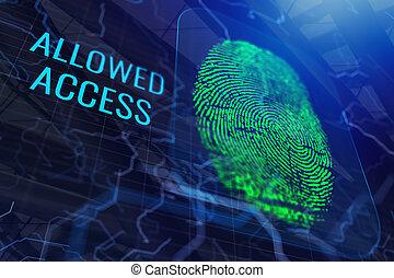 Digital fingerprint backdrop
