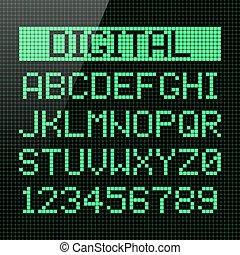Digital font old style font