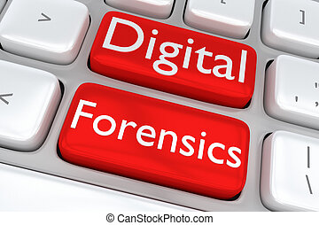 Digital Forensics software concept