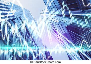 Digital forex charts hologram