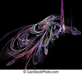 digital fractal - Vector Illustration of digital fractal