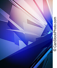 Digital fusion - 3D background with futuristic shapes.