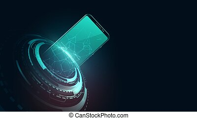 digital futuristic mobile technology concept design background