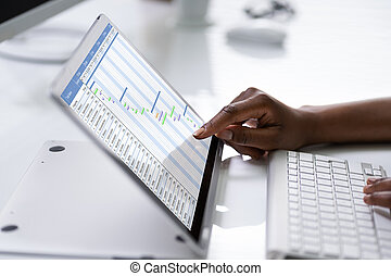 Digital Gantt Chart, Time Sheets And Agenda List