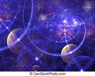 digital, geleistet, abstrakt, fractal, galaxie, image., guten, als, hintergrund, oder, wallpaper.