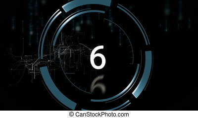 10 to 0 countdown - Digital generated 10 to 0 countdown