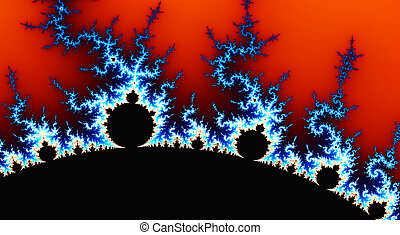 digital generated abstract fractal landscape