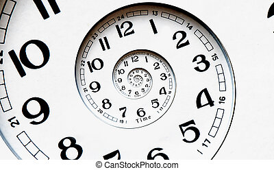 Digital generated twisted clock face. - Twisted clock face....
