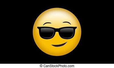 Digital generated video of attitude emoji concept