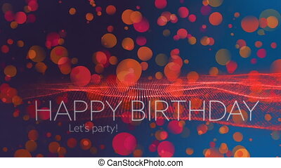 Digital generated video of birthday concept - Digital...