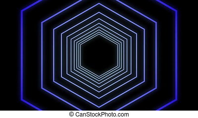Digital generated video of concentric lines - Digital...
