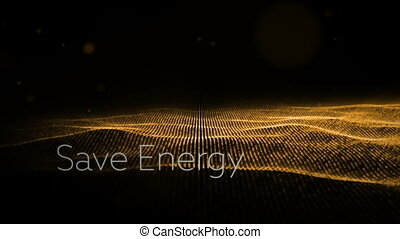 Digital generated video of energy concept - Digital...