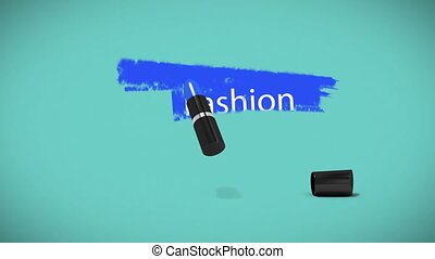 Digital generated video of fashion concept