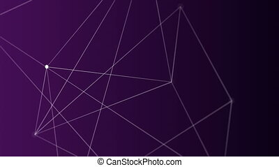 Digital generated video of geometric line concept
