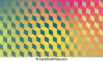 Digital generated video of geometric pattern - Digital ...