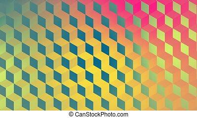 Digital generated video of geometric pattern - Digital...