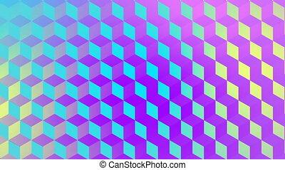 Digital generated video of various geometric shape - Digital...