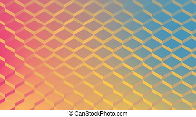 Digital generated video of multi color wire mesh fence