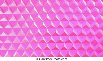 Digital generated video of pink wire mesh fence