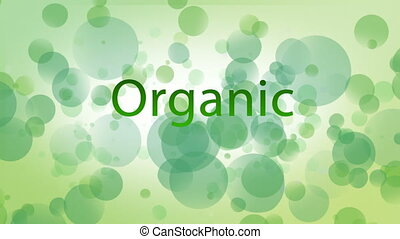 Digital generated videos of organic concept on green ...