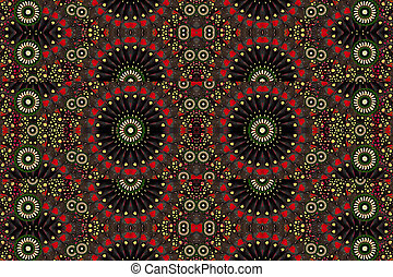 Digital Geometric Pattern - Digital art geometric motif...