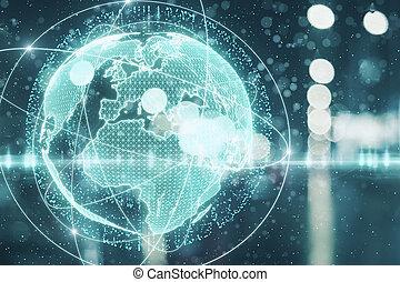 Digital globe backdrop