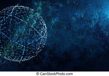 Digital globe background
