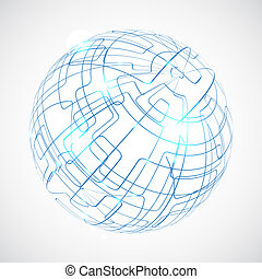 Digital globe illustration with space for your business message