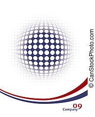 Digital globe vector.  - Digital globe vector design.