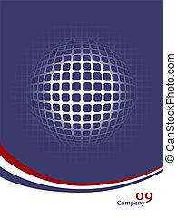 Digital globe vector.