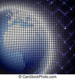 digital globe world, dotted vector illustration