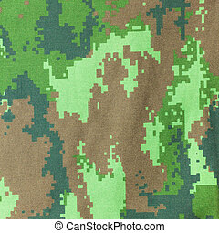 Digital graphic military camouflage fabric background texture