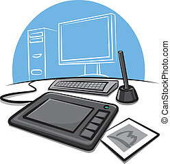 digital graphic tablet  - digital graphic tablet