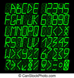 Digital Green Alphabet