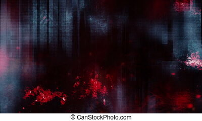 Digital grunge horror looping animated abstract background